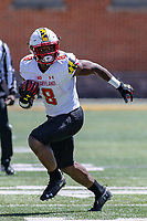 College Park, MD - April 27, 2019:  Maryland Terrapins running back Tayon Fleet-Davis (8) runs the ball during the spring game at  Capital One Field at Maryland Stadium in College Park, MD.  (Photo by Elliott Brown/Media Images International)