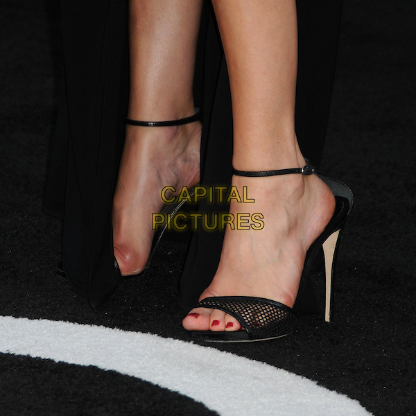 """Malin Akerman's shoes .""""Rock of Ages"""" Los Angeles Premiere held at Grauman's Chinese Theatre,  Hollywood, California, USA,.8th June 2012..detail ankle strap open toe heels feet .CAP/ADM/BP.©Byron Purvis/AdMedia/Capital Pictures."""
