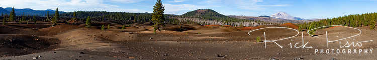 Painted Dunes and Mt Lassen Panorama