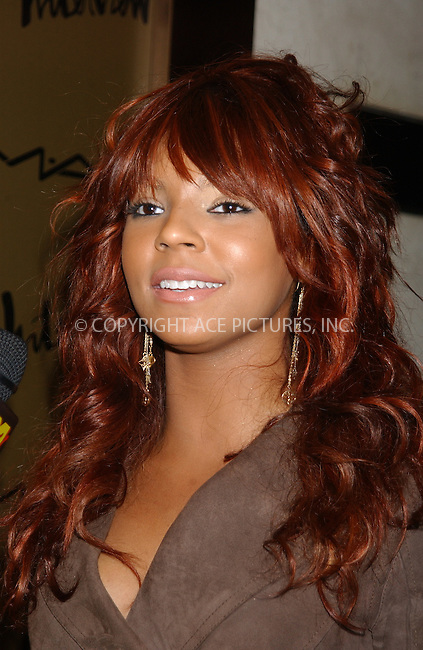 WWW.ACEPIXS.COM . . . . . ....NEW YORK, FEBRUARY 10, 2005....Ashanti at the Zac Posen after party.....Please byline: KRISTIN CALLAHAN - ACE PICTURES.. . . . . . ..Ace Pictures, Inc:  ..Philip Vaughan (646) 769-0430..e-mail: info@acepixs.com..web: http://www.acepixs.com