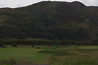 Peter O'Keeffe from Ireland on the 8th fairway during Round 3 Foursomes of the Men's Home Internationals 2018 at Conwy Golf Club, Conwy, Wales on Friday 14th September 2018.<br /> Picture: Thos Caffrey / Golffile<br /> <br /> All photo usage must carry mandatory copyright credit (&copy; Golffile | Thos Caffrey)
