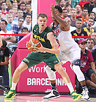 11.09.2014 Barcelona. FIBA Basketball World Cup. Semi-Finals. Picture show R. Seibutis in action during game Usa v Lithuania at Palau St. Jordi