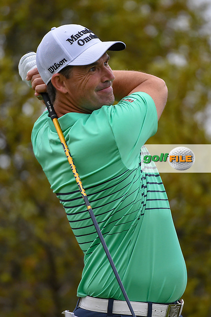 Padraig Harrington (IRL) watches his tee shot on 10 during day 3 of the Valero Texas Open, at the TPC San Antonio Oaks Course, San Antonio, Texas, USA. 4/6/2019.<br /> Picture: Golffile | Ken Murray<br /> <br /> <br /> All photo usage must carry mandatory copyright credit (© Golffile | Ken Murray)