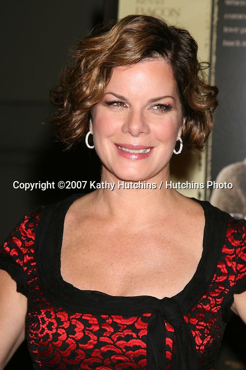"Marcia Gay Harden.""Rails & Ties"" Premiere.Stephen J. Ross Theater.Warner Brothers Lot.Burbank,  CA.October 23, 2007.©2007 Kathy Hutchins / Hutchins Photo...               ."