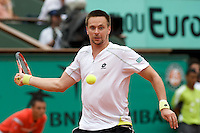 Robin Soderling (SWE) (23) against Rafael Nadal (ESP) (1) in the fourth round of the Men's Singles. Soderling beat Nadal 6-2 6-7 6-4 7-6 ..Tennis - French Open - Day 8 - Sun 31st May 2009 - Roland Garros - Paris - France..Frey Images, Barry House, 20-22 Worple Road, London, SW19 4DH.Tel - +44 20 8947 0100.Cell - +44 7843 383 012