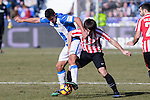 Club Deportivo Leganes's Unai Bustinza, Atletic de Bilbao's Benat Etxebarria  during the match of La Liga between Leganes and Athletic Club at Butarque Stadium  in Madrid , Spain. January  14, 2017. (ALTERPHOTOS/Rodrigo Jimenez)