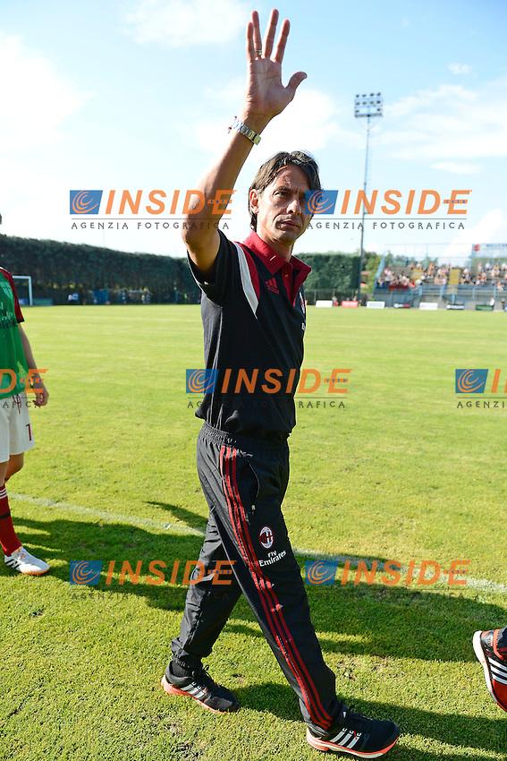Filippo Inzaghi Milan<br /> Solbiate Arno 16-07-2014 Stadio Felice Chinetti - Football 2014/2015 amichevole. Milan - Renate Foto Giuseppe Celeste / Insidefoto