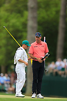 Stuart Cink (USA) on the 15th green during the 2nd round at the The Masters , Augusta National, Augusta, Georgia, USA. 12/04/2019.<br /> Picture Fran Caffrey / Golffile.ie<br /> <br /> All photo usage must carry mandatory copyright credit (© Golffile | Fran Caffrey)