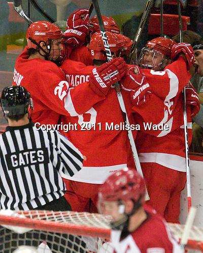 Mathieu Brisson (Cornell - 27), Nick D'Agostino (Cornell - 6), Dustin Mowrey (Cornell - 20) - The visiting Cornell University Big Red defeated the Harvard University Crimson 2-1 on Saturday, January 29, 2011, at Bright Hockey Center in Cambridge, Massachusetts.