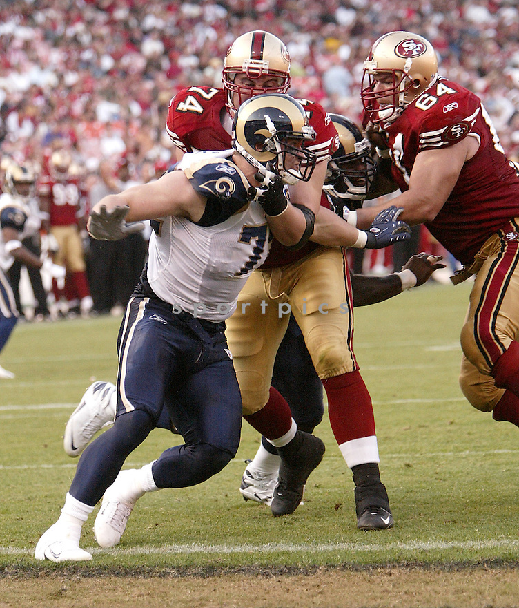 CHRIS LONG, of the St. Louis Rams in action against the San Francisco 49ers during the Rams game in San Francisco, California on November 16, 2008..49ers win 35-16