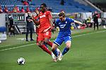 Zweikampf, Duell zwischen Kingsley Ehizibue (1. FC Koeln) und Jacob Bruun Larsen (Hoffenheim).<br /> <br /> Sport: Fussball: 1. Bundesliga: Saison 19/20: 28. Spieltag: TSG 1899 Hoffenheim - 1. FC Koeln, 27.05.2020<br /> <br /> Foto: Markus Gilliar/GES/POOL/PIX-Sportfotos.<br /> <br /> Nur für journalistische Zwecke! Only for editorial use!<br /> <br /> Gemäß den Vorgaben der DFL Deutsche Fußball Liga ist es untersagt, in dem Stadion und/oder vom Spiel angefertigte Fotoaufnahmen in Form von Sequenzbildern und/oder videoähnlichen Fotostrecken zu verwerten bzw. verwerten zu lassen. DFL regulations prohibit any use of photographs as image sequences and/or quasi-video.
