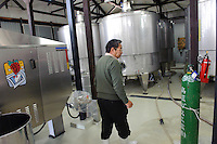 Grace Wine Managing Director Shigekazu Misawa in his winery, Katsunuma, Yamanashi Prefecture, Japan, October 12, 2009.