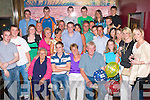 2818-2822.---------.Key to the Door.---------------.Colin O Leary(seated 2nd from the Lt)from Castlelawn Dr Tralee,celebrated his 21st birthday last Friday night in Gally's bar/restaurant Castlemaine Rd Tralee with his parents Eileen&Tommy,grandmom Peggy Greensmith and many more family and friends.