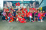 Colaiste na Sceilge students pictured at the Munster v Connacht game in Thomond Park on Saturday, on trip organised by Bank of Ireland Cahersiveen as part of the Schools Bank Program.