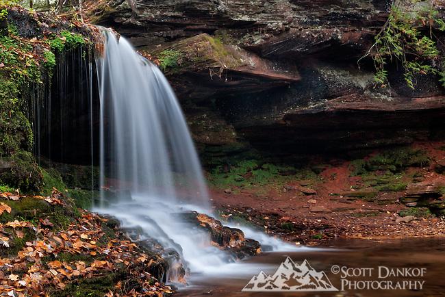 An easy trail leads to Lost Creek Falls, located near Cornucopia, Wisconsin.