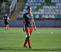 20131026 - LIVADIA , GREECE : Belgian Tessa Wullaert pictured during the female soccer match between Greece and Belgium , on the third matchday in group 5 of the UEFA qualifying round to the FIFA Women World Cup in Canada 2015 at the Levadia Municipal Stadium , Livadia . Saturday 26th October 2013. PHOTO DAVID CATRY