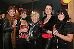 Ann Finnegan, Caroline Kavanagh, Isabelle San Roma, Joan Finnegan and Mary Regan at the Burlesque Show in the Droichead Arts Centre...Photo NEWSFILE/Jenny Matthews.(Photo credit should read Jenny Matthews/NEWSFILE)....This Picture has been sent you under the condtions enclosed by:.Newsfile Ltd..The Studio,.Millmount Abbey,.Drogheda,.Co Meath..Ireland..Tel: +353(0)41-9871240.Fax: +353(0)41-9871260.GSM: +353(0)86-2500958.email: pictures@newsfile.ie.www.newsfile.ie.FTP: 193.120.102.198.