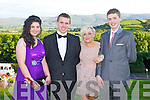 STYLE: Enjoying the ISK debs at the Ballyroe Heights hotel on Thursday l-r: Margaret Cronin, Kyle Fitzgerald, Machaela O'Leary and Shane Gill...