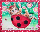 Kayomi, CUTE ANIMALS, paintings, LadybugKitty_M, USKH88,#AC# illustrations, pinturas ,everyday