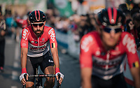 Thomas de Gendt (BEL/Lotto-Soudal) at the race start in Bergamo<br /> <br /> 112th Il Lombardia 2018 (ITA)<br /> from Bergamo to Como: 241km