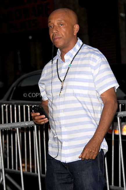 WWW.ACEPIXS.COM . . . . . .June 9, 2011...New York City...Russell Simmons enters the Stephan Weiss Studios on June 9, 2011 in New York City.  on June 9, 2011 in New York City.....Please byline: KRISTIN CALLAHAN - ACEPIXS.COM.. . . . . . ..Ace Pictures, Inc: ..tel: (212) 243 8787 or (646) 769 0430..e-mail: info@acepixs.com..web: http://www.acepixs.com .