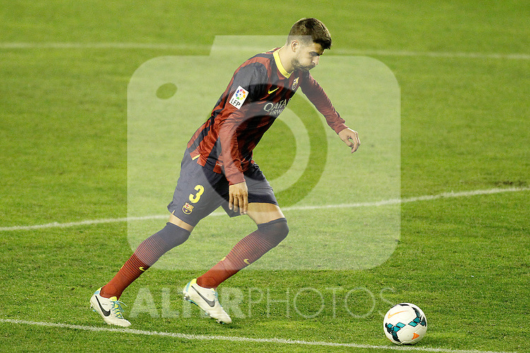 FC Barcelona's Gerard Pique during La Liga match.September 21,2013. (ALTERPHOTOS/Acero)