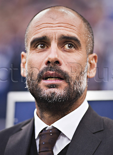 21.09.2013. Gelsenkirchen, Germany. Veltins Arena Football Team manager Josep Pep Guardiola FCB. FC Schalke 04 versus FC Bayern Munich
