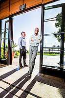 Brad Smith& Scott Cook pictures: executive portrait photography of Scott Cook, founder of Intuit, and Brad Smith, CEO of Intuit, by San Francisco corporate photographer Eric Millette