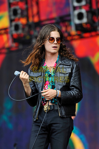 LONDON, ENGLAND - JULY 8: Garrett Borns of 'B&Oslash;RNS' performing at British Summertime, Hyde Park on July 8, 2016 in London, England.<br /> CAP/MAR<br /> &copy;MAR/Capital Pictures