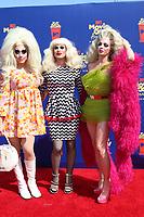 LOS ANGELES - JUN 15:  Trixie Mattel, Katya Zamolodchikova, Alyssa Edwards at the 2019 MTV Movie & TV Awards at the Barker Hanger on June 15, 2019 in Santa Monica, CA