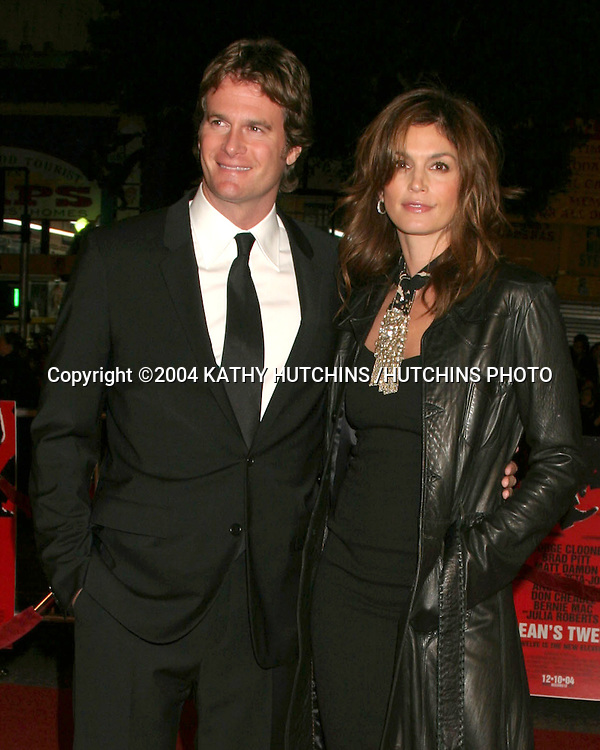 "©2004 KATHY HUTCHINS / HUTCHINS PHOTO.PREMIERE OF ""OCEANS 12"".LOS ANGELES, CA  .DECEMBER 8, 2004..CINDY CRAWFORD.AND RANDE GERBER"