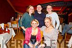 Enjoying the evening in Ristourante Uno on Friday <br /> L to r: Zaneta Herbus, Justyna Tarasiuk, Evelina Szlezak, Paulina Zyla and Mariola Barwicka.