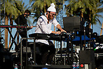 Chet Faker performs on stage at Weekend 1 of the Coachella Valley Music and Arts Festival in Indio, California April 11, 2015. (Photo by Kendrick Brinson)