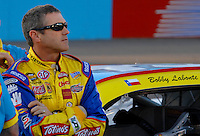 Apr 19, 2007; Avondale, AZ, USA; Nascar Nextel Cup Series driver Bobby Labonte (43) during qualifying for the Subway Fresh Fit 500 at Phoenix International Raceway. Mandatory Credit: Mark J. Rebilas