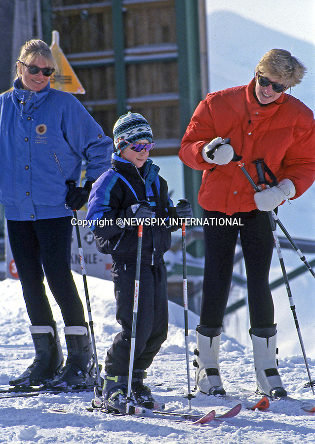 PRINCE HARRY_30 years on<br /> Prince Harry celebrates his 30th birthday on the 15th of September 2014<br /> <br /> Princess Diana, the Princess of Wales and Prince Harry head for the slopes during their skiing holiday in March, 1992 in Lech, Austria.<br /> Mandatory Photo Credit: &copy;Dias/NEWSPIX INTERNATIONAL<br /> <br /> Mandatory credit photo:NEWSPIX INTERNATIONAL(Failure to credit will incur a surcharge of 100% of reproduction fees)<br /> <br /> **ALL FEES PAYABLE TO: &quot;NEWSPIX INTERNATIONAL&quot;**<br /> <br /> Newspix International, 31 Chinnery Hill, Bishop's Stortford, ENGLAND CM23 3PS<br /> Tel:+441279 324672<br /> Fax: +441279656877<br /> Mobile:  07775681153<br /> e-mail: info@newspixinternational.co.uk