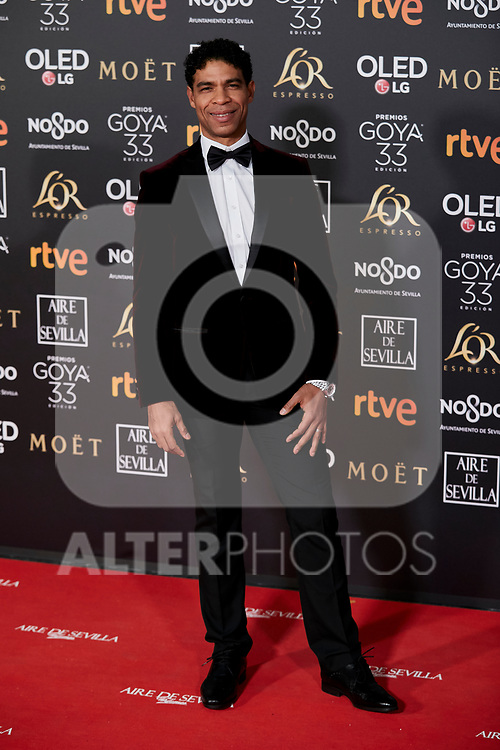 Carlos Acosta attends to 33rd Goya Awards at Fibes - Conference and Exhibition  in Seville, Spain. February 02, 2019. (ALTERPHOTOS/A. Perez Meca)