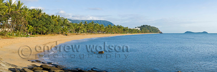 View along Trinity Beach, Cairns, Queensland, Australia