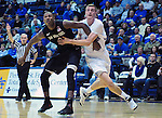 January 20, 2015 - Colorado Springs, Colorado, U.S. -  Air Force center, Zach Moer #41, battles SDSU's Skylar Spencer #0, during a Mountain West Conference match-up between the San Diego State Aztecs and the Air Force Academy Falcons at Clune Arena, U.S. Air Force Academy, Colorado Springs, Colorado.  San Diego State defeats Air Force 77-45.