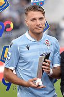 Ciro Immobile of Lazio receive a prize from Claudio Lotito <br /> Roma 10-11-2019 Stadio Olimpico <br /> Football Serie A 2019/2020 <br /> SS Lazio - Lecce<br /> Foto Antonietta Baldassarre / Insidefoto
