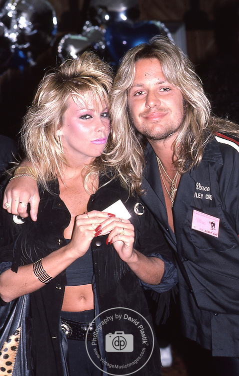 Vince & Sharise Neil in Hollywood March 1986.