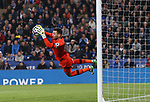 Tottenham's Hugo Lloris makes a save during the Premier League match at the King Power Stadium, Leicester. Picture date: May 18th, 2017. Pic credit should read: David Klein/Sportimage