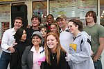 Kurt McKinney - Frank Dicopoulos - Lawrence Saint-Victor - Daniel Cosgrove & Zack Conroy and fans - Guiding Light's actors meet fans at Stacy Jo's Ice Cream in McKees Rocks, PA on September 30, 2009. During the weekend of events proceeds from pink ribbon bagel sales at various Panera Bread locations will benefit the Young Women's Breast Cancer Awareness Foundation. (Photo by Sue Coflin/Max Photos)
