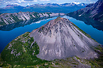 USA, Alaska, Katmai National Park, aerial landscape , crater lake