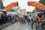 The start of Stage 5 of the 2019 Giro d'Italia, running 140km from Frascati to Terracina, Italy. 15th May 2019<br /> Picture: Massimo Paolone/LaPresse | Cyclefile<br /> <br /> All photos usage must carry mandatory copyright credit (© Cyclefile | Massimo Paolone/LaPresse)