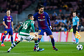 5th December 2017, Camp Nou, Barcelona, Spain; UEFA Champions League football, FC Barcelona versus Sporting Lisbon; Andre Gomes of FC Barcelona controls the ball