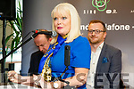 Minister for Jobs Enterprise and Innovation, Mary Mitchell-O'Connor, TD, with Ken Tobin of HQ Tralee  at the Launch of HQTralee, Co.Kerry, the first recipient of Vodafone and SIRO's, Gigabit- Hub Initiative on Friday