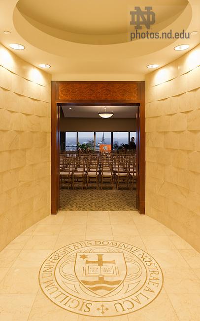 Feb. 6, 2013; Vestibule to the Hesburgh Library Penthouse..Photo by Matt Cashore/University of Notre Dame
