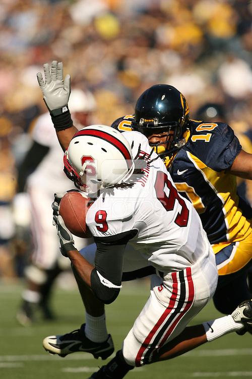 2 December 2006: Richard Sherman during Stanford's 26-17 loss to Cal in the 109th Big Game at Memorial Stadium in Berkeley, CA.