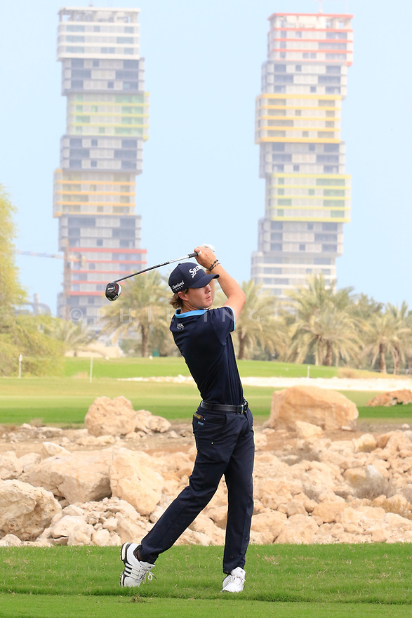 Sean Crocker (USA) in action during the final round of the Commercial Bank Qatar Masters played at Doha Golf Club, Qatar. 25/02/2018<br /> Picture: Golffile | Phil Inglis<br /> <br /> <br /> All photo usage must carry mandatory copyright credit (&copy; Golffile | Phil Inglis)