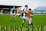 Declan O'Sullivan South Kerry in action against Jonathan Lyne Legion at the Kerry County Senior Football Final at Fitzgerald Stadium on Sunday.